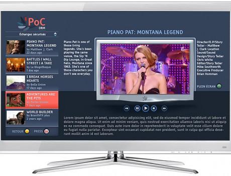 Habillage service TV