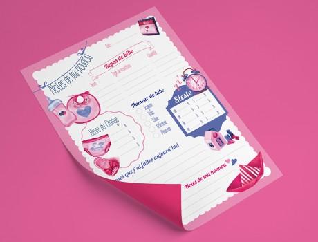 Cahier de correspondance avec la nounou