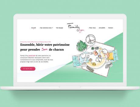 Illustration pour habillage de site web